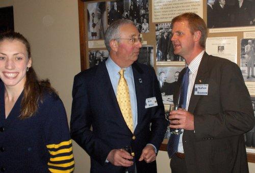 A senior athlete, Bob Haas, and Nathan Brostrom