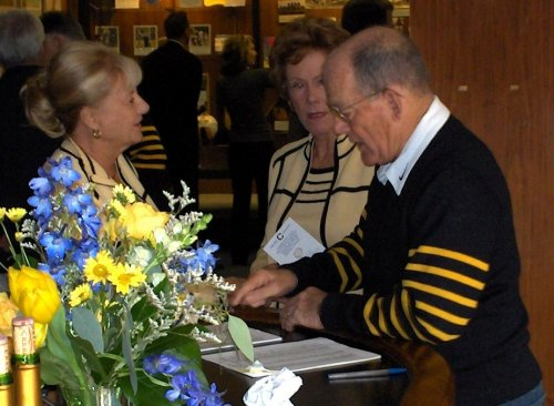 Marilyn White, Marge Albo, and Bob Milano