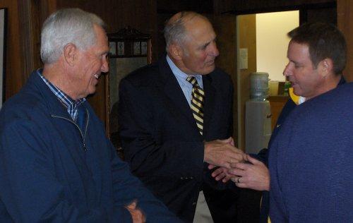 Mike White, Dr. Bob Albo, and Ben Braun