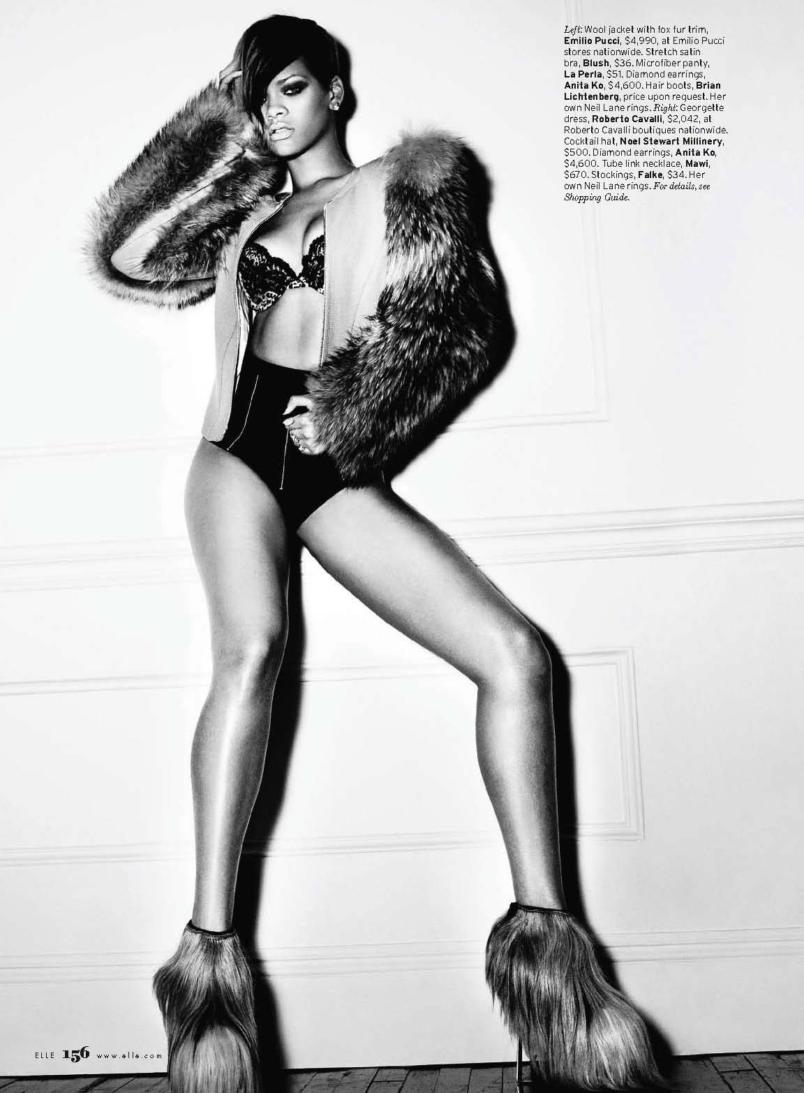 Hair Boots - Rihanna - Elle Magazine