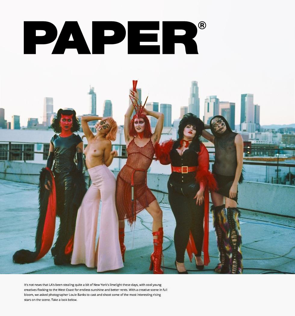 Paper Magazine × Louie Banks -