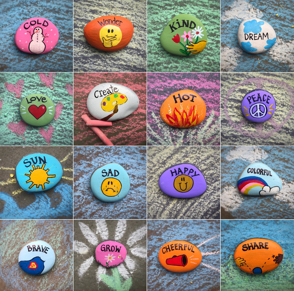 Kindness Rocks matching game for kids, 32 cards with 16 matches!