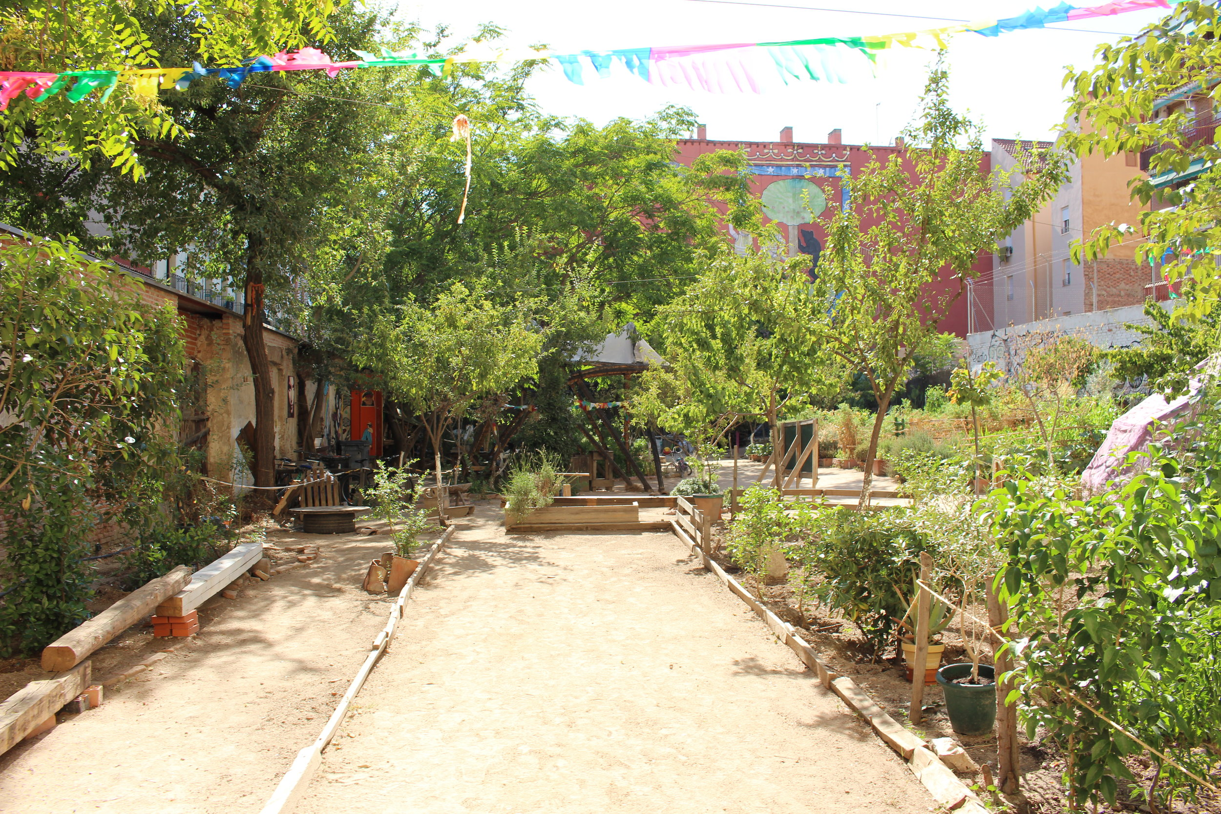 "Courtyard of ""Esta es una plaza.""    Photo by Audrey Valbuena"