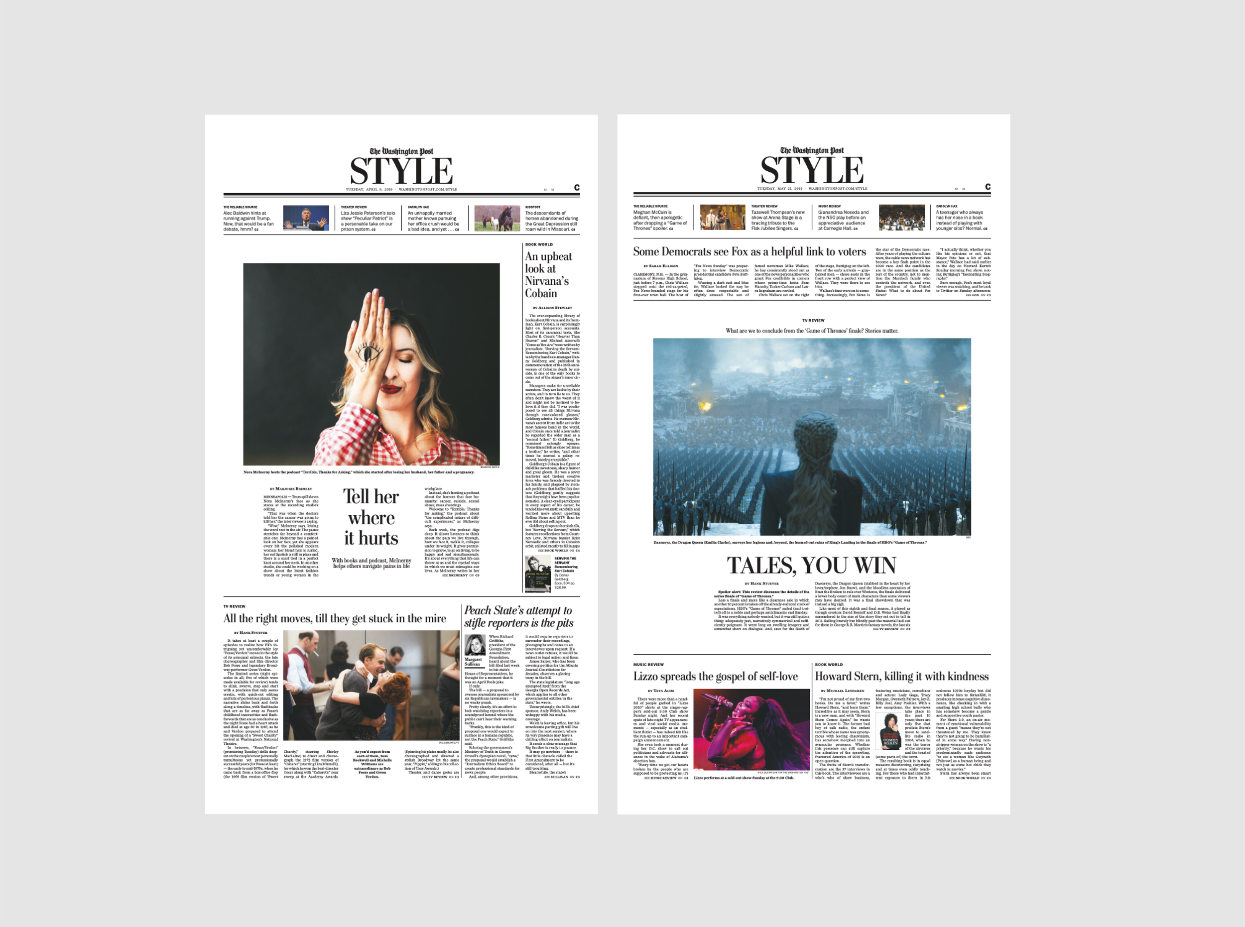 Style covers.