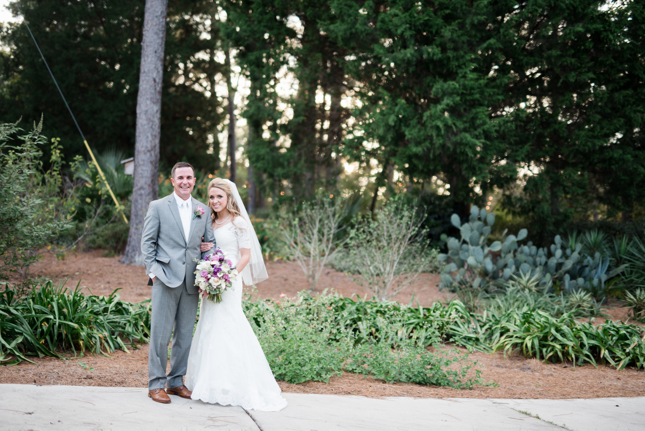 Church Wedding + Mobile Botanical Gardens Reception Photographed by Kristen Grubb Photography