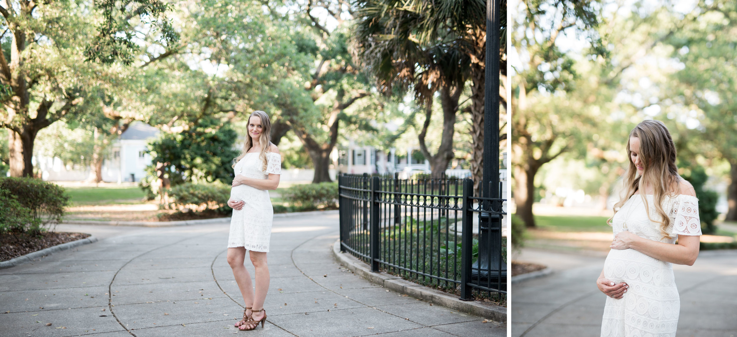 Downtown Mobile Alabama Family Portraits in Washington Square by Kristen Grubb Photography