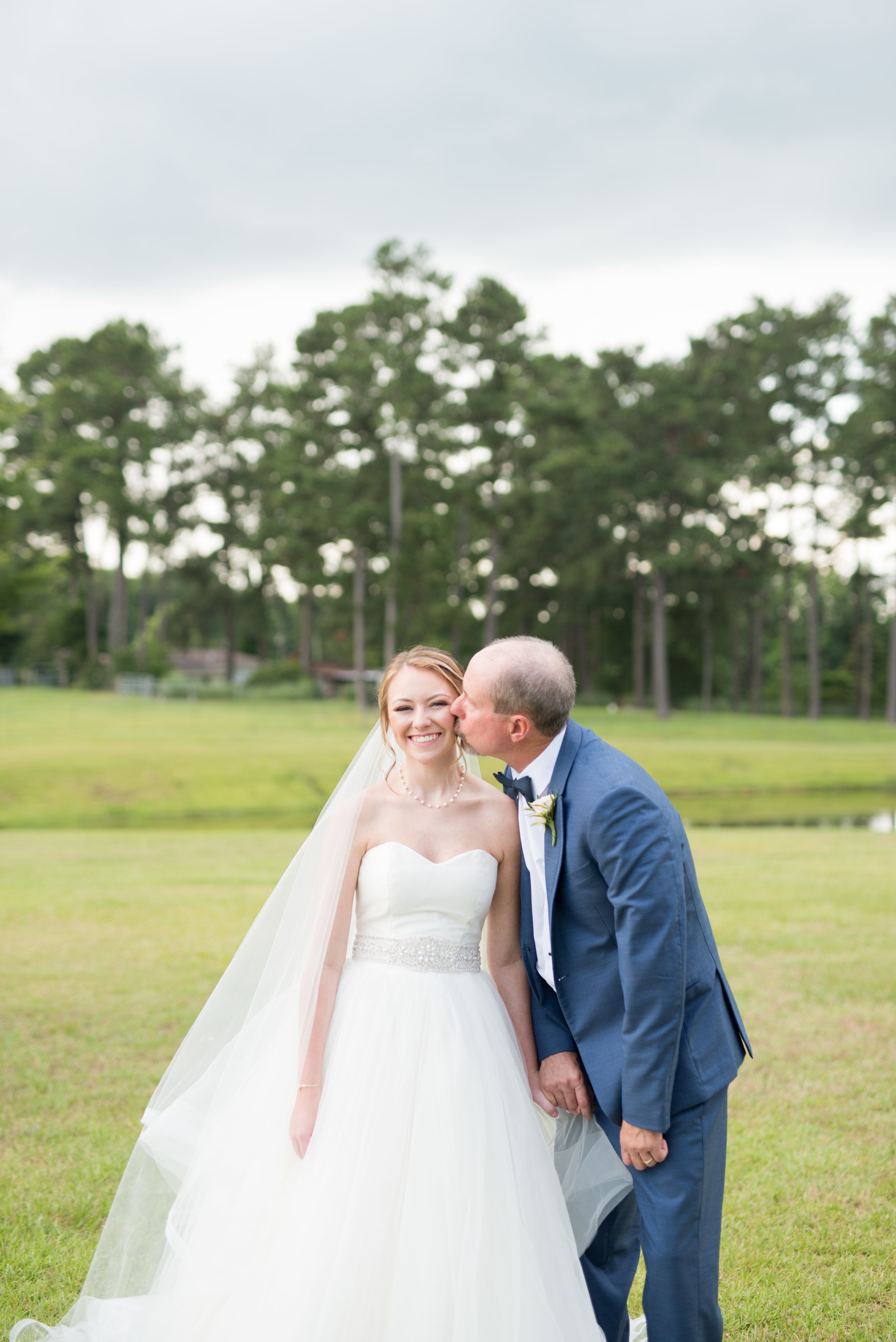 The Barn at Bridlewood wedding in Hattiesburg, Mississippi (MS) in June | Bride and bride's dad