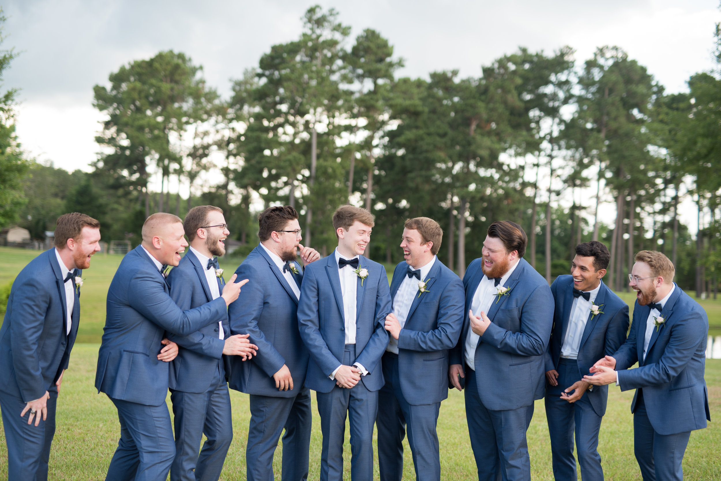The Barn at Bridlewood wedding in Hattiesburg, Mississippi (MS) in June | the groomsmen