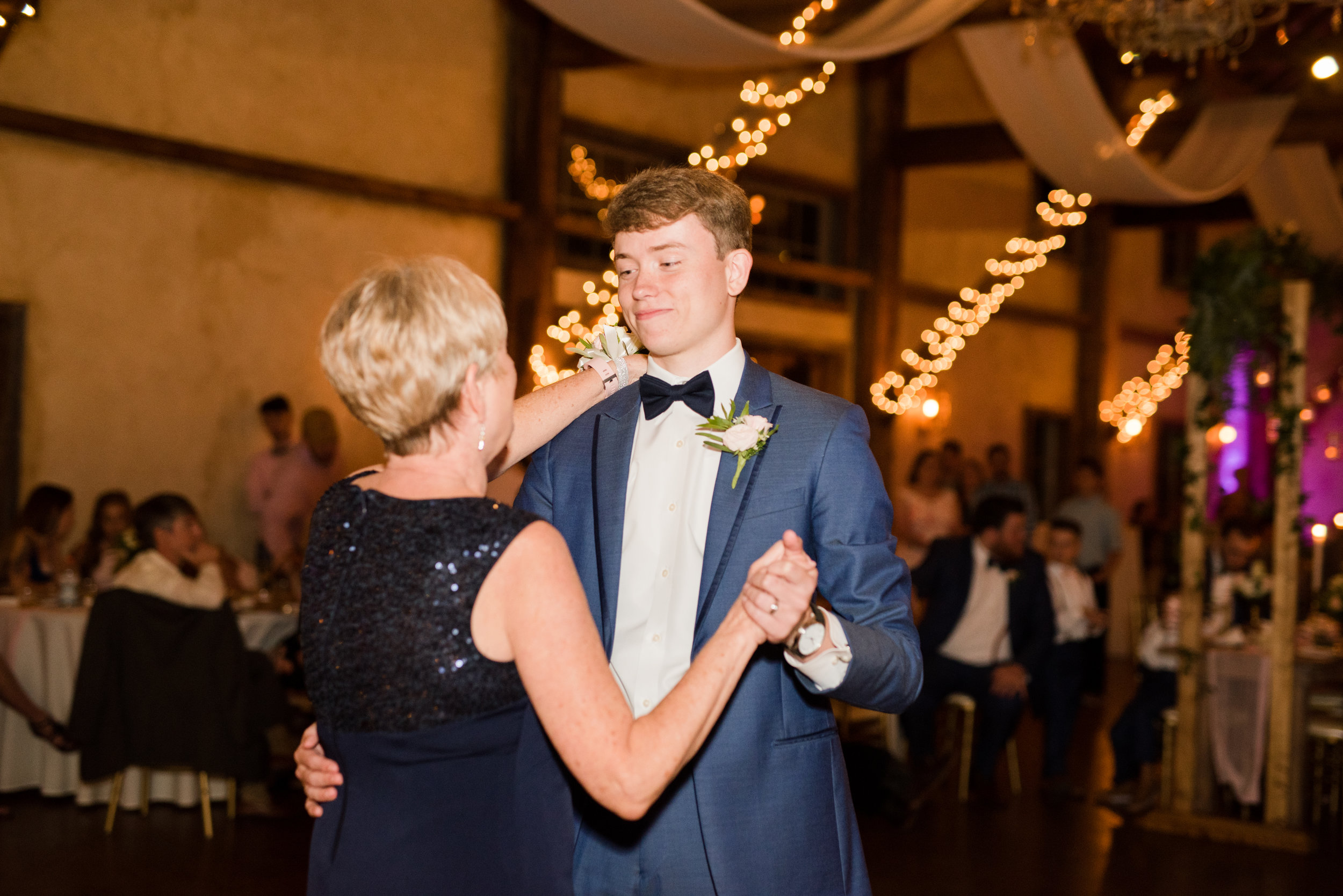 The Barn at Bridlewood wedding in Hattiesburg, Mississippi (MS) in June | Groom's mom and Groom Wedding Dance