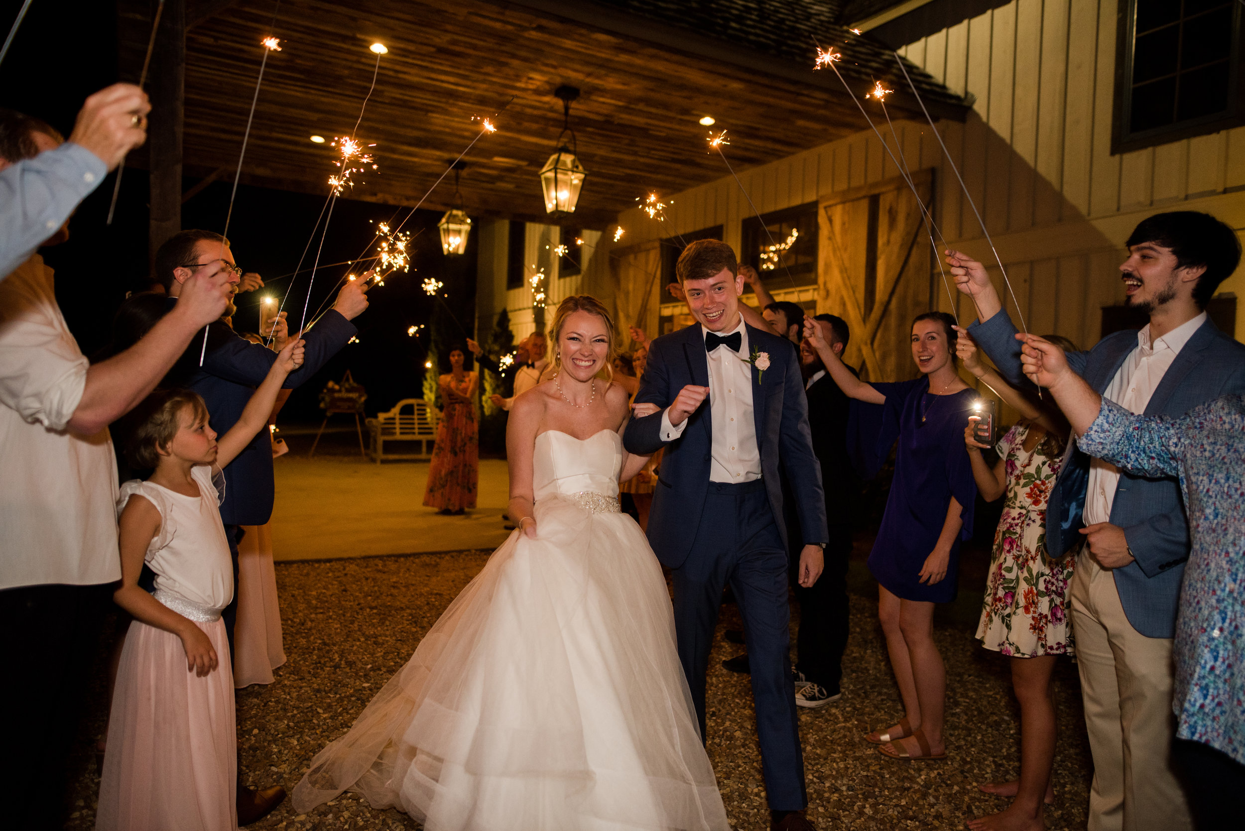 The Barn at Bridlewood wedding in Hattiesburg, Mississippi (MS) in June | Bride and Groom Wedding Exit