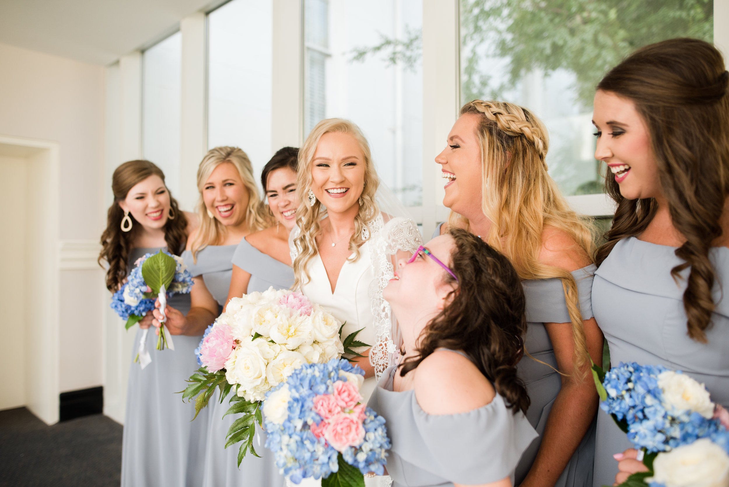History museum of mobile, alabama wedding bridesmaids shot by kristen marcus photography in June