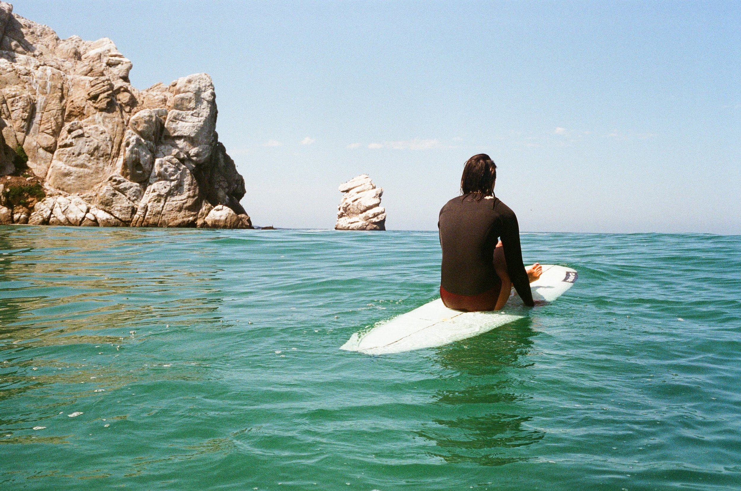 Sierra Lerback waiting for a set. (Morro Bay, California)