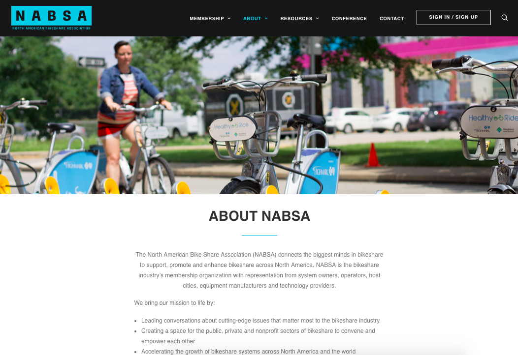 North American Bikeshare Association