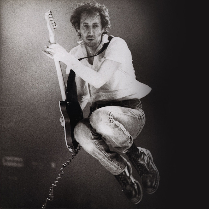 Picture of Pete Townshend of The Who rocking Doc Marten boots, probably 1460's in black. Courtesy of Therake.com