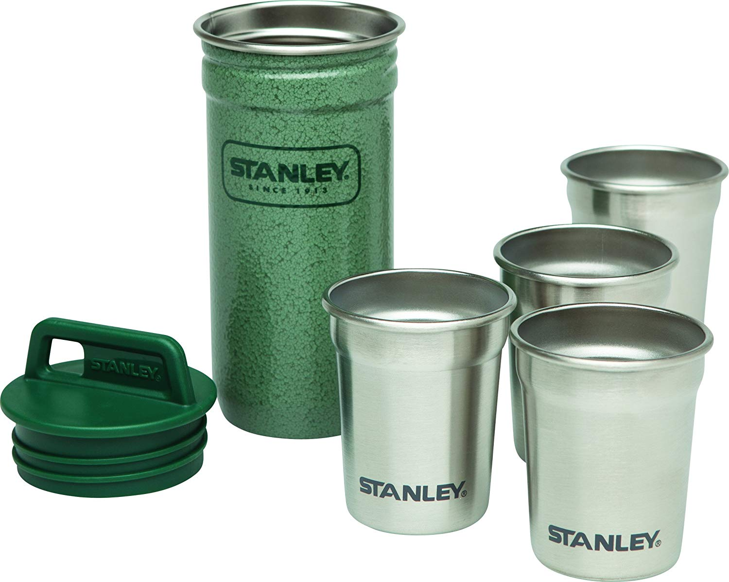 stanley stainless steel flask and shotglasses amazon prime gift for guys