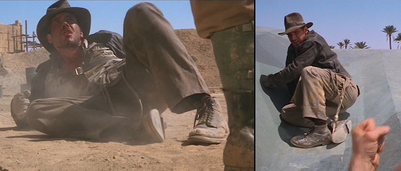 Indiana Jones wearing the iconic Alden Indy 403 boot in one of the movies. Very cool- but very expensive too!