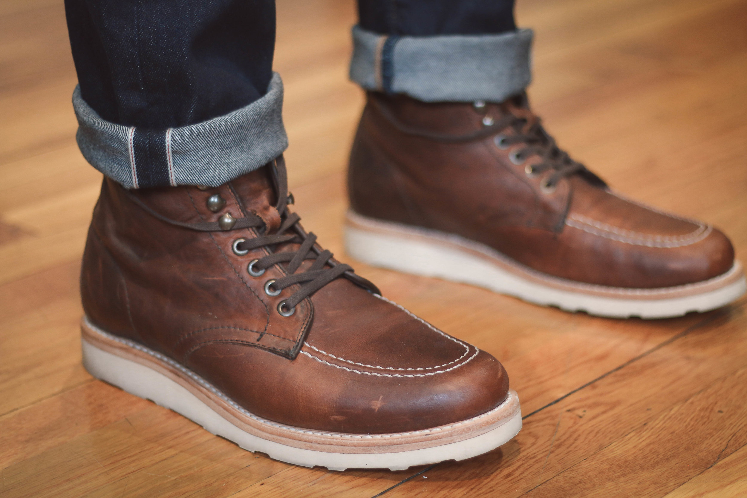 The Sutro Ellington is a much more affordable alternative to the Alden Indy boot coming in at $248 retail but frequently on sale. Another example of a handsome moc toe!