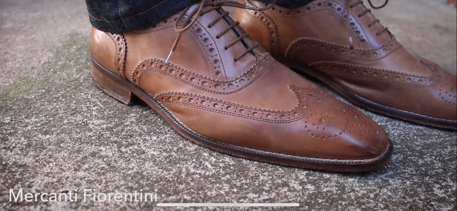 Mercanti Fiorentini Italian wingtip brogue oxford dress shoes are some of my favorite under $100 you can buy