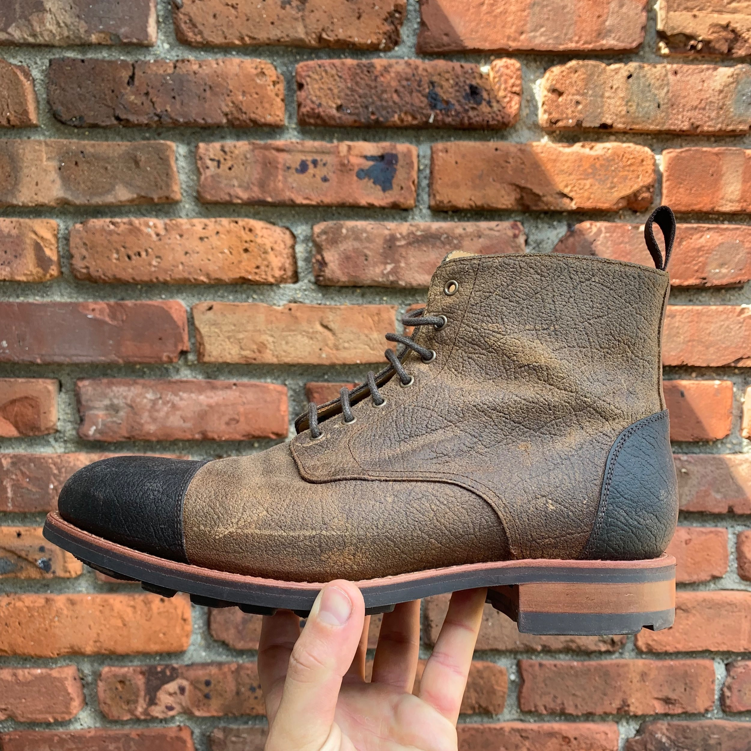 A 360 degree Goodyear welt makes these boots legit; waterproof, and totally recraftable
