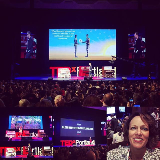 What a brilliant and amazing day @tedxportland! Feeling inspired and grateful! Wow! #tedxportland #tedx #livebig #liveyourbestlife