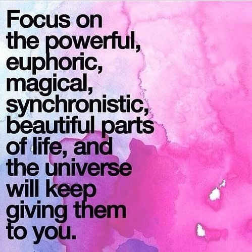 What you focus on is what you get more of. I've seen it. I believe it. #magichappenseveryday