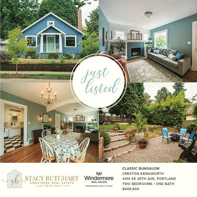 💕🏡JUST LISTED! Super adorable bungalow on a quiet sweet street in close-in SE PORTLAND! Come see me Sunday from 1:00 to 3:00. ➡️ 4314 SE 29th Ave. 🏡🎉👏🏼👏🏼👏🏼