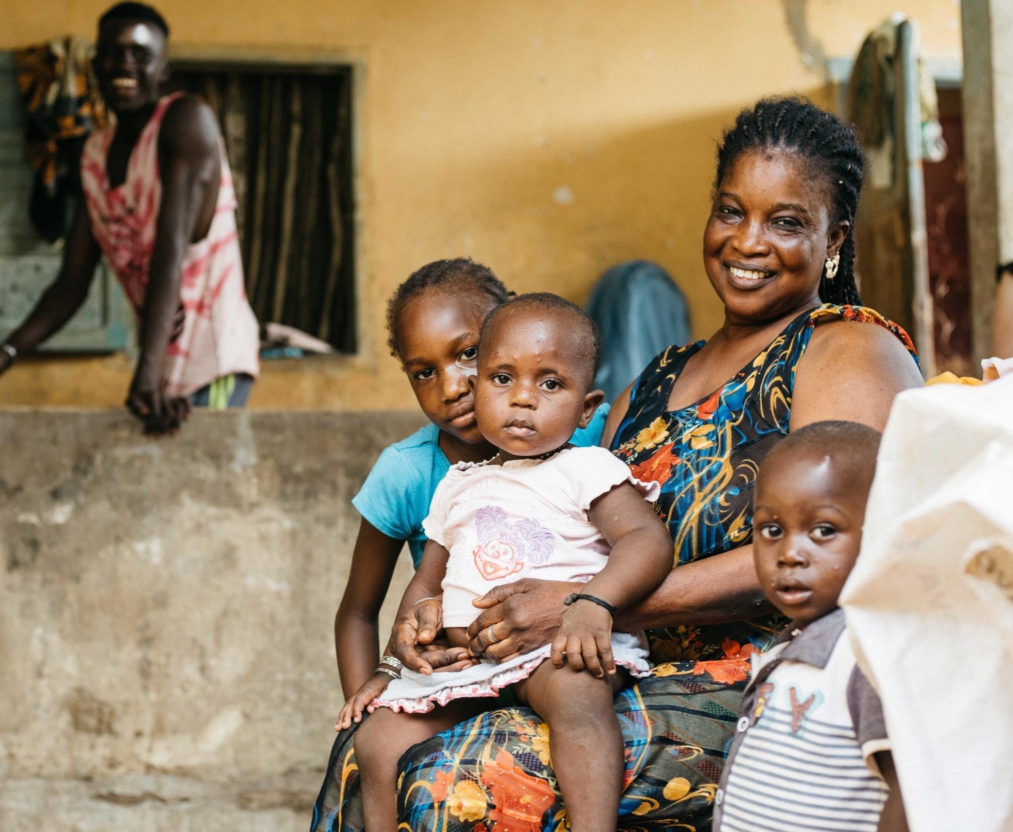 family mother children senegal
