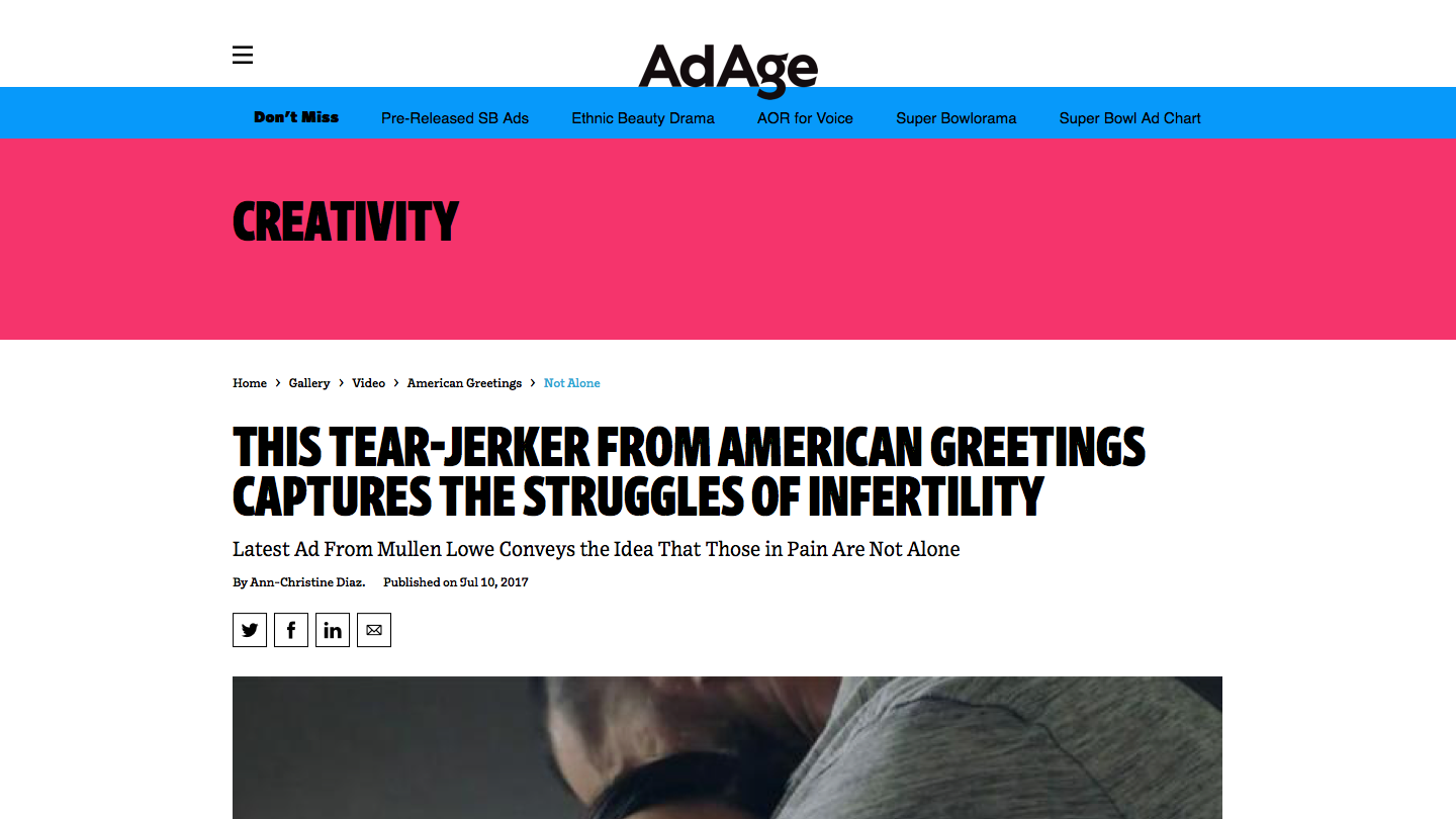 American Greetings Addresses Infertility Struggles in Tear-Jerking Ad - Video - Creativity Online.png