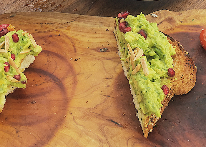 Smashed Organic Avocado Toast - For my brunchathon, I ordered the Smashed Organic Avocado Toast. One word: Bravo! 2 thumbs up for this dish, especially since I have a strong affinity for avocados.Rating: 3.5 stars