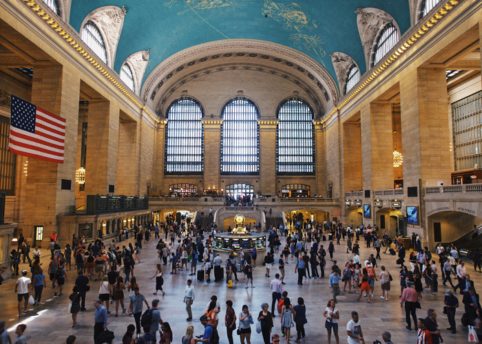 Grand Central Terminal - Last but not least, I love paying a visit to the Grand Central Terminal. I love the architecture of that building and it's a great place to people watch.