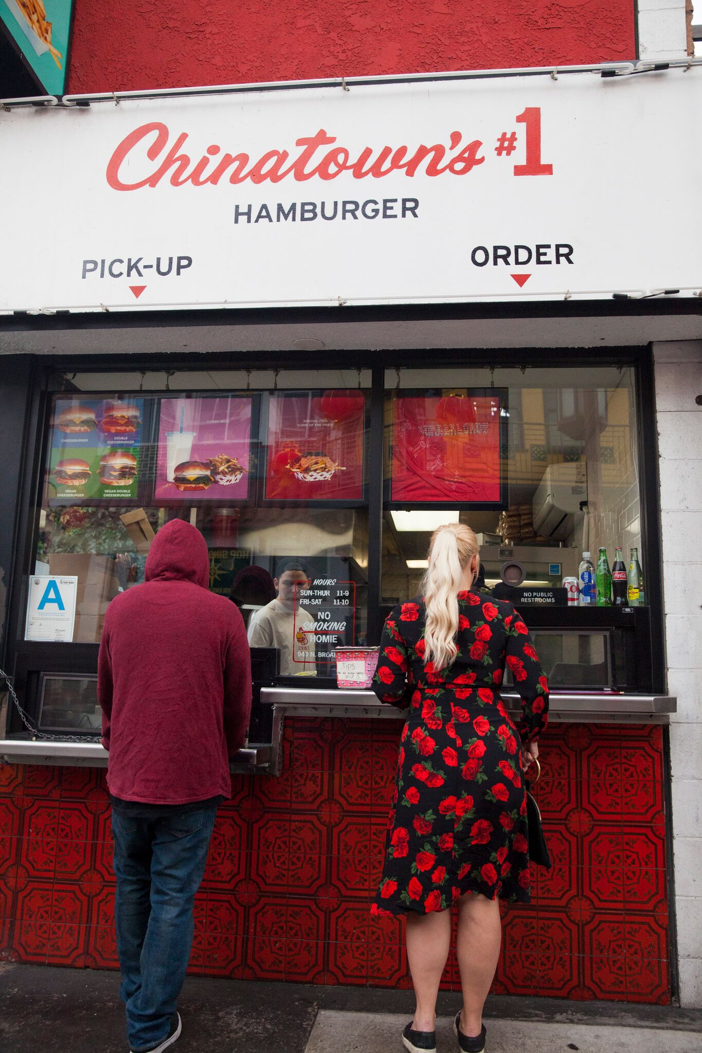 Order at their walk-up window... -