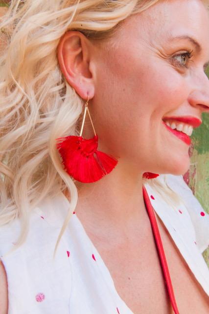 Earrings:   Forever 21-Tassel Drop Earrings-$5.90