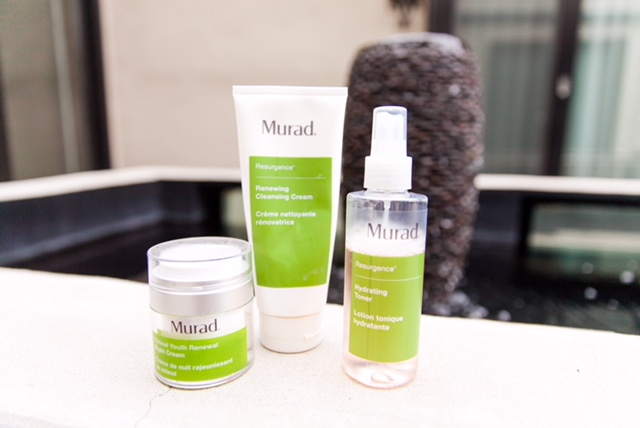 The products I use are the Renewing Cleansing Cream, The Hydrating Toner, and the Retinol Youth Renewal Night Cream.