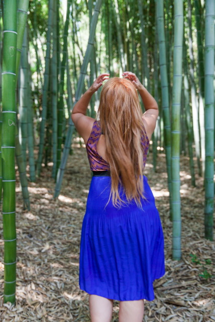 Taking a stroll through the Bamboo Forest on the southern tip of the Japanese Garden.
