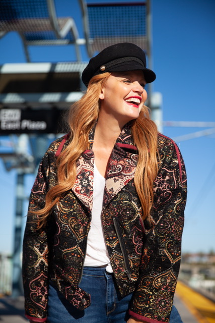 All Aboard! Rocking my favorite new jacket from Free People! Super cute for fall!    Labyrinth Moto Jacket: Free People: $268      Nautical Cap with Buttons: Zara: $29.90