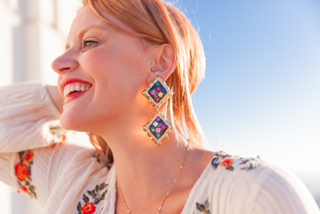 How gorgeous are these new earrings from Zara? You know how much I love Zara and their new fall collection is so colorful!  Earrings: Zara: Colorful Mirror Pendant Earrings: $19.90