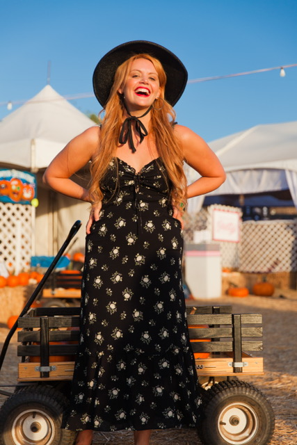 Feeling Bewitched in my favorite dress and hat from   Reformation!