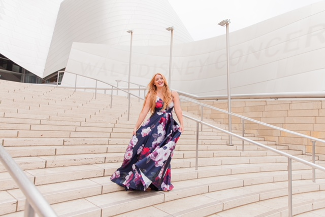 Dancing on the steps of The Walt Disney Concert Hall!