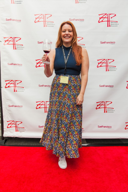 Walking the red carpet for the ZAP Wine Festival in San Francisco!  Dress: Anthropologie