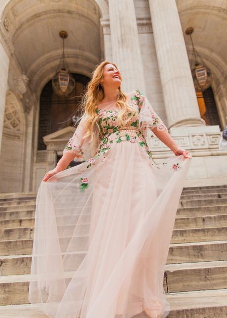 Feeling like a princess on the steps of the NYPL!