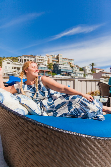 Lounging around on their amazing rooftop terrace!
