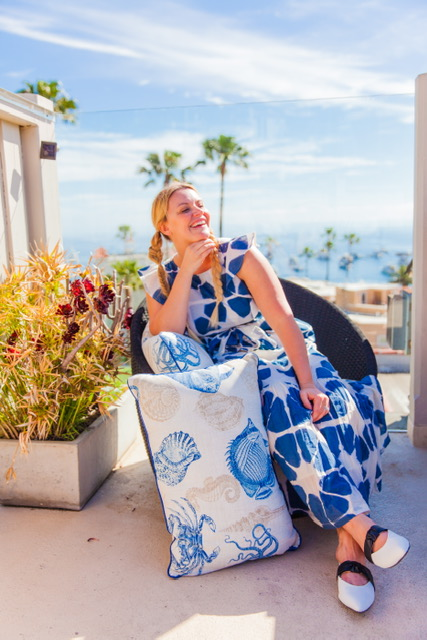 Loving this view and this dress! Anthropologie is killing it for spring!