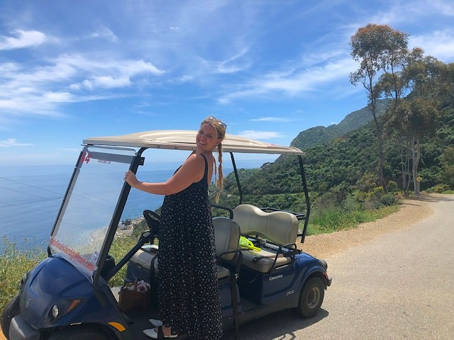Golf carting around the island is so much fun!