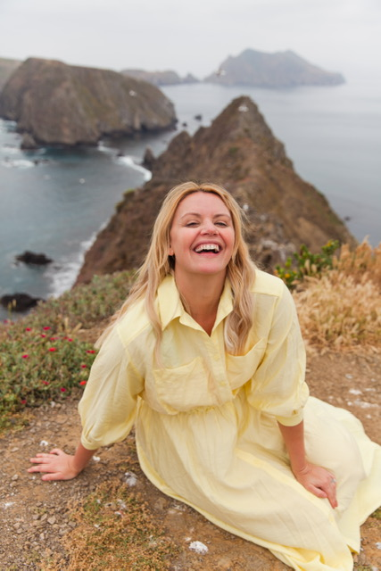 Smiling big because of this view and the cutest yellow dress from HM!    Dress: HM: Shirt Dress: $69