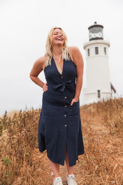 This is my pre-edit before the sparkle. I clearly am in pure bliss near this beautiful Anacapa Lighthouse! It was built in 1912.    Dress: Zara: $69.90