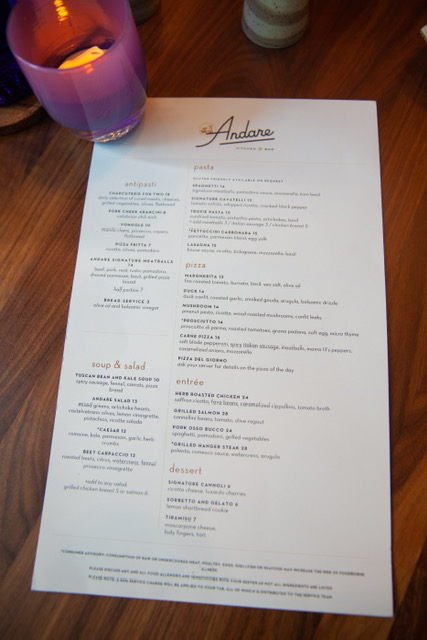 The menu is extensive and amazing!