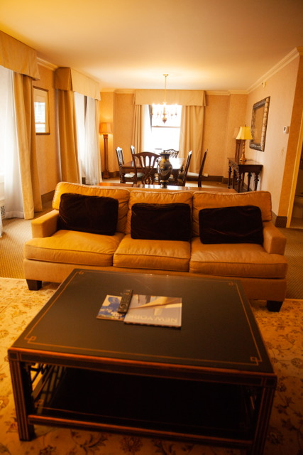 Loved the layout of the living room in my suite.