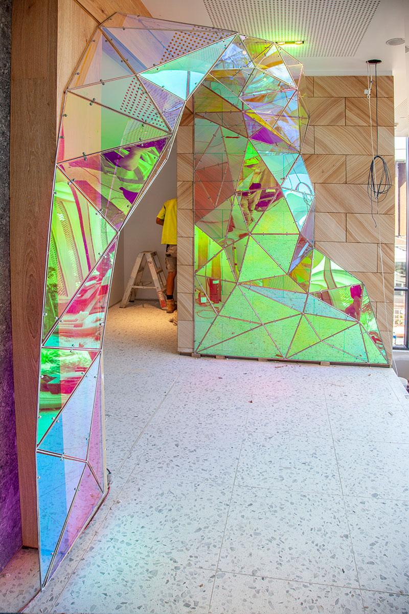 Dichroic Acrylic Archway