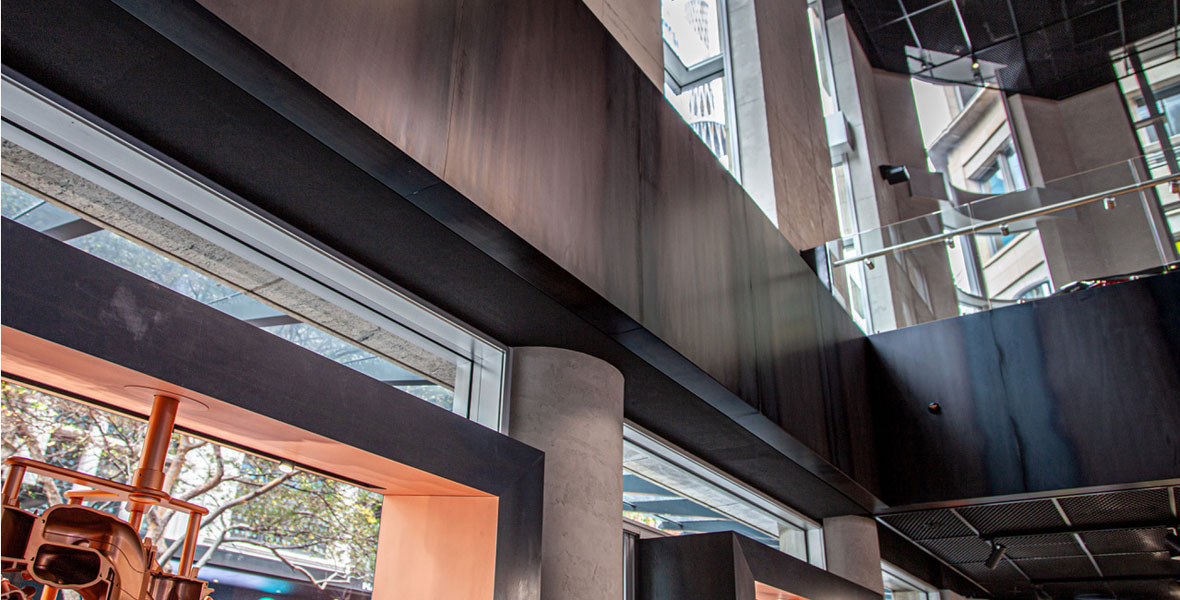 Hot rolled mild steel with a customised surface protection