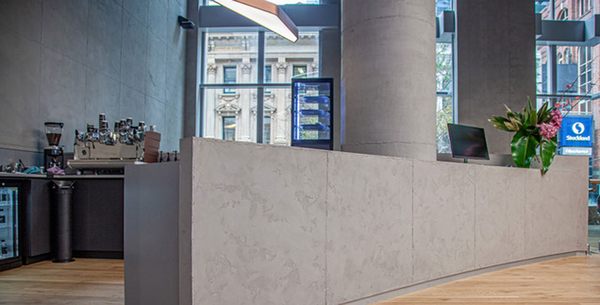 Delivering a form concrete look with painted finishes
